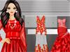 Длинные красные плат