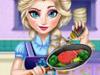 Эльза готовит обед