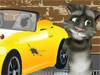 Кот Том моет машину