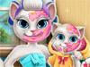 Анжела и дочка: Макияж