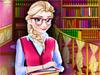 Эльза в библиотеке
